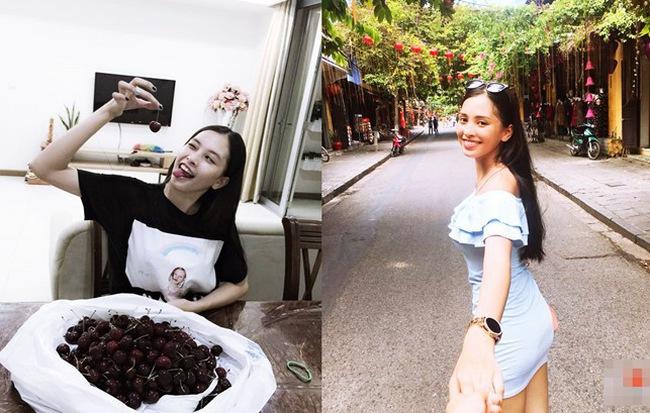 Trên mạng xã hội, tân hoa hậu Trần Tiểu Vy thể hiện bản thân như thế nào?