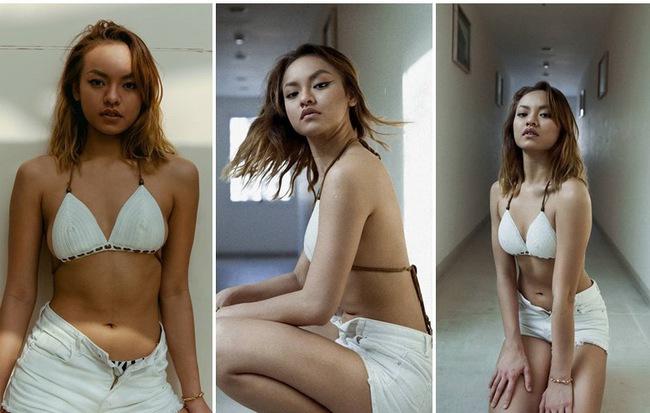 Người mẫu Mai Ngô để lộ nhược điểm khi diện bikini nóng bỏng
