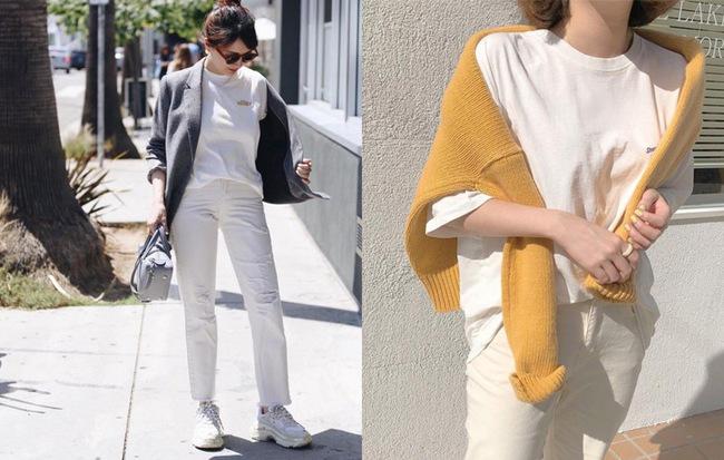 Không phải jeans xanh hay đen, quần jeans trắng mới là item chiếm ngôi vương mùa Thu Đông năm nay