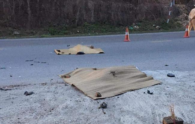 Xe Limousine đâm xe máy đi ngược chiều khiến 2 bố con tử vong ở Quảng Ninh