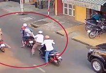 Cô gái cùng 2 thanh niên dàn cảnh va chạm giao thông để cướp ở Sài Gòn