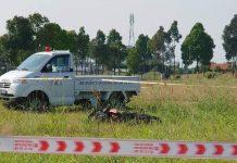 Nam thanh niên gục chết bên chiếc xe máy trong khu trung tâm hành chính huyện